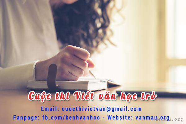 cuoc thi viet van - Cuộc thi Viết văn học trò tháng 09/2017