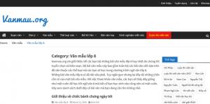 Top 10 website những bài văn mẫu hay lớp 8 mới nhất