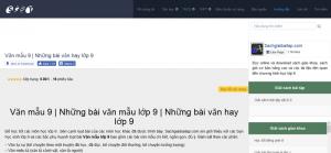 Top 10 website những bài văn mẫu hay lớp 9 mới nhất